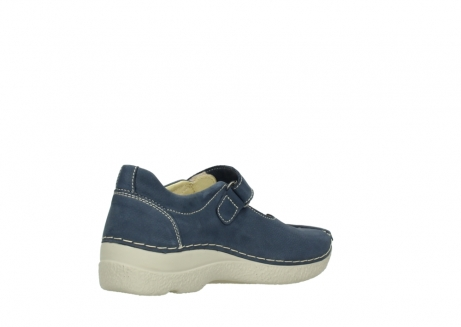 wolky bandschoenen 06291 seamy cross 10820 denim blauw nubuck_10