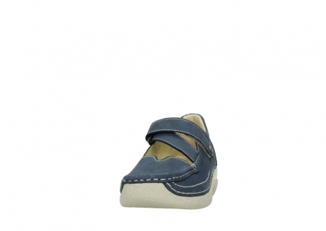 wolky bandschoenen 06291 seamy cross 10820 denim blauw nubuck_20