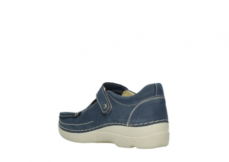 wolky bandschoenen 06291 seamy cross 10820 denim blauw nubuck_4