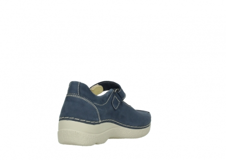 wolky bandschoenen 06291 seamy cross 10820 denim blauw nubuck_9