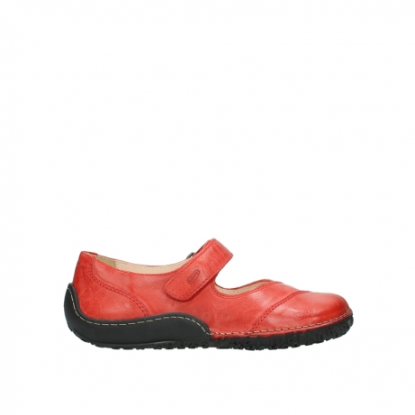 wolky chaussures a bride 08350 light 30500 cuir rouge
