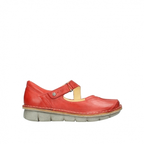 wolky chaussures a bride 08389 cordoba 30500 cuir rouge