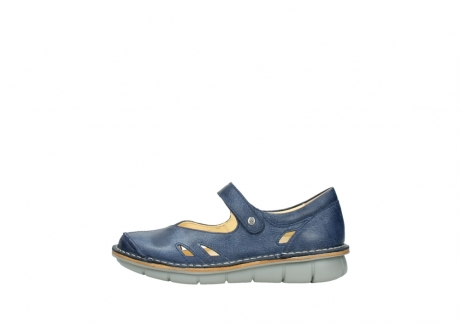 wolky bandschoenen 08393 neath 30820 denim leer_1