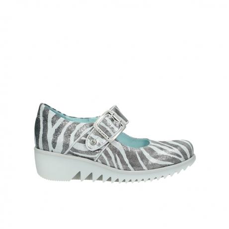 wolky riemchenschuhe 3811 silky 912 zebra print metallic leder