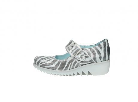 wolky riemchenschuhe 3811 silky 912 zebra print metallic leder_1