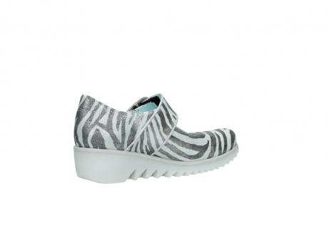 wolky riemchenschuhe 3811 silky 912 zebra print metallic leder_11