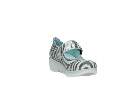 wolky riemchenschuhe 3811 silky 912 zebra print metallic leder_17