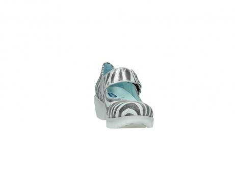 wolky riemchenschuhe 3811 silky 912 zebra print metallic leder_18