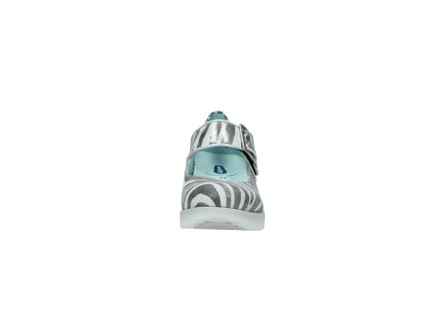 wolky riemchenschuhe 3811 silky 912 zebra print metallic leder_19