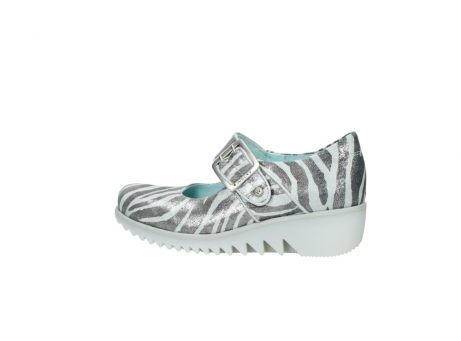 wolky riemchenschuhe 3811 silky 912 zebra print metallic leder_2