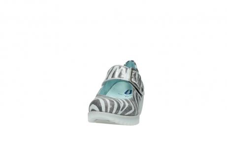 wolky riemchenschuhe 3811 silky 912 zebra print metallic leder_20
