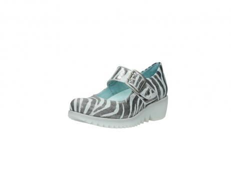 wolky riemchenschuhe 3811 silky 912 zebra print metallic leder_22