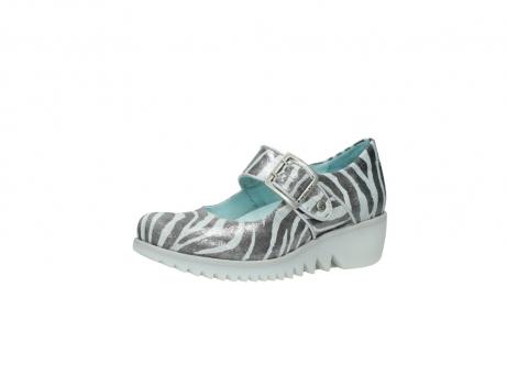 wolky riemchenschuhe 3811 silky 912 zebra print metallic leder_23