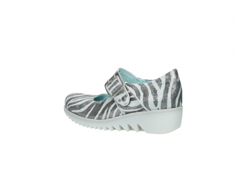 wolky riemchenschuhe 3811 silky 912 zebra print metallic leder_3