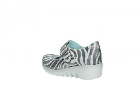 wolky riemchenschuhe 3811 silky 912 zebra print metallic leder_4