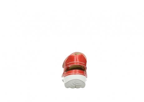 wolky bandschoenen 4801 venture 350 rood leer_7