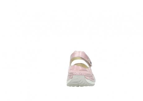wolky bandschoenen 4801 venture 364 roze leer_19