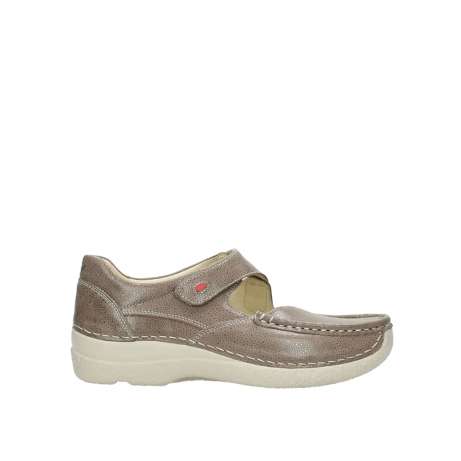 wolky bandschoenen 6247 roll fever 915 taupe dots nubuck