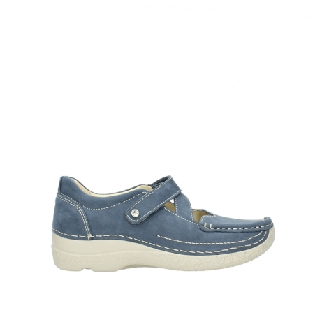 wolky bandschoenen 6291 seamy cross 182 denim blauw nubuck