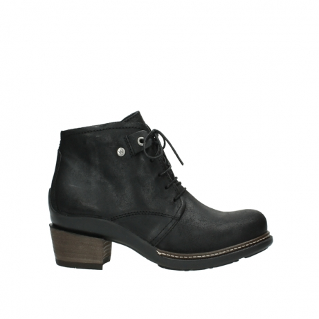 wolky ankle boots 00477 tonala 50000 black oiled leather