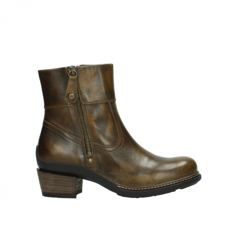 wolky bottines 00478 arriba 30363 cuir marron cuivre