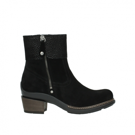 wolky ankle boots 00478 arriba 40000 black suede