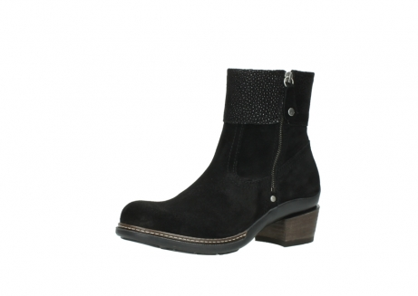 wolky ankle boots 00478 arriba 40000 black suede_23