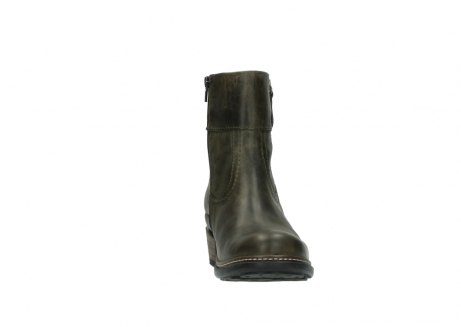 wolky ankle boots 00478 arriba 80730 forest green leather_18