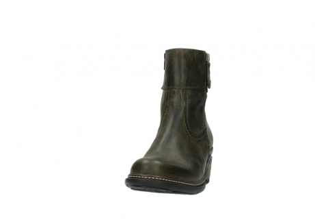 wolky ankle boots 00478 arriba 80730 forest green leather_20