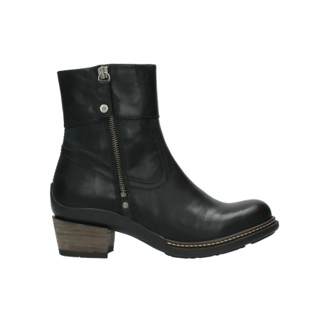 wolky ankle boots 00479 arriba cw 80000 black leather cold winter warm lining
