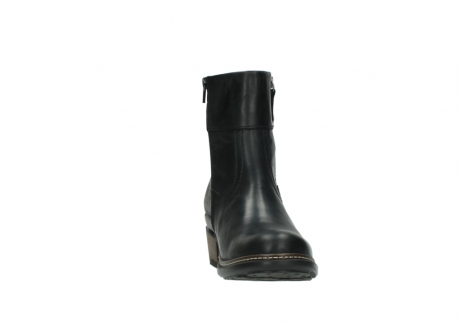 wolky ankle boots 00479 arriba cw 80000 black leather cold winter warm lining_18
