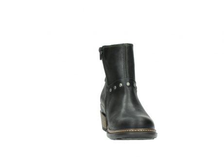 wolky ankle boots 00480 riva 50730 forest green oiled leather_18