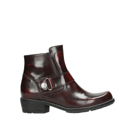 wolky ankle boots 00525 gila 30510 burgundy polished leather