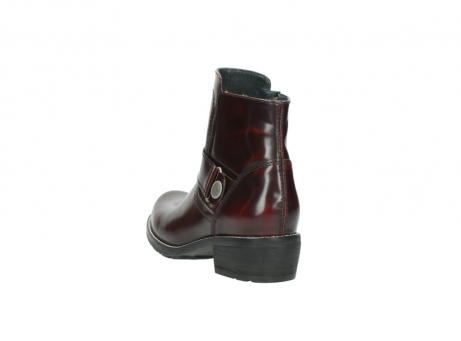 wolky ankle boots 00525 gila 30510 burgundy polished leather_10