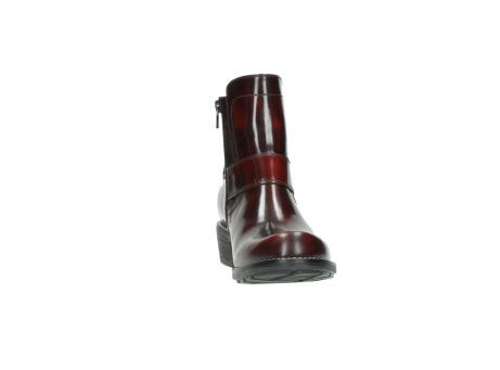 wolky ankle boots 00525 gila 30510 burgundy polished leather_23