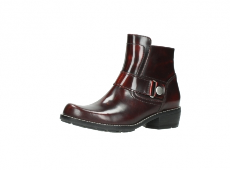 wolky ankle boots 00525 gila 30510 burgundy polished leather_4