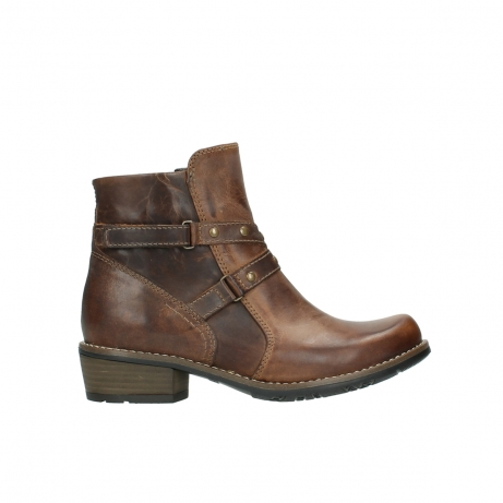 wolky ankle boots 00559 chico 80430 cognac leather