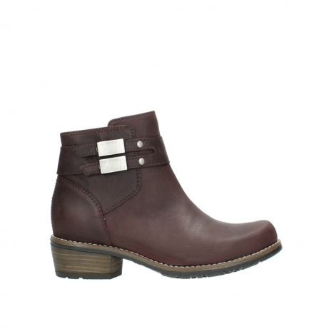 wolky ankle boots 00571 nero 50510 burgundy oiled leather