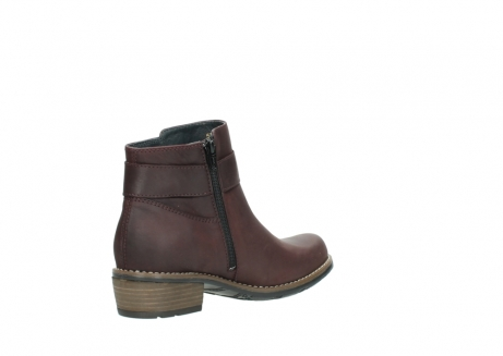wolky ankle boots 00571 nero 50510 burgundy oiled leather_10