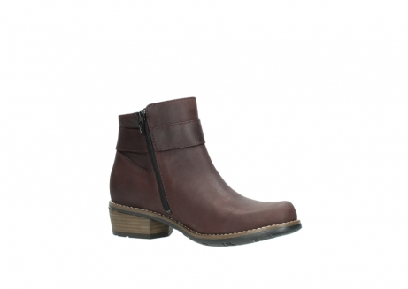 wolky ankle boots 00571 nero 50510 burgundy oiled leather_15