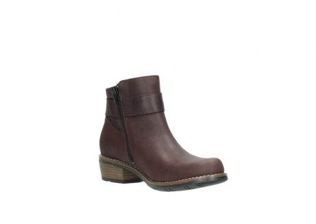 wolky ankle boots 00571 nero 50510 burgundy oiled leather_16