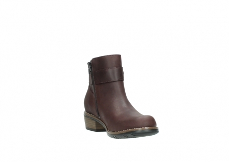 wolky ankle boots 00571 nero 50510 burgundy oiled leather_17