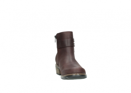 wolky ankle boots 00571 nero 50510 burgundy oiled leather_18