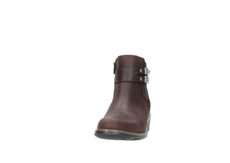 wolky ankle boots 00571 nero 50510 burgundy oiled leather_20