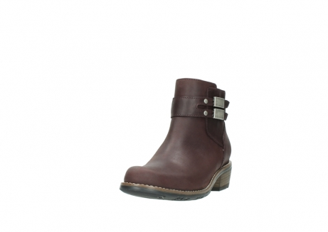wolky ankle boots 00571 nero 50510 burgundy oiled leather_21