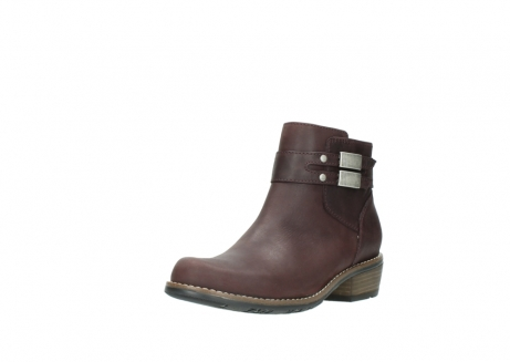 wolky ankle boots 00571 nero 50510 burgundy oiled leather_22