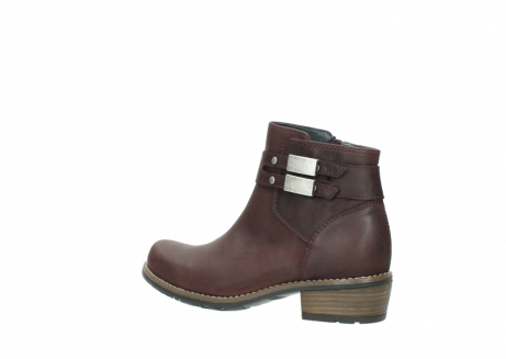 wolky ankle boots 00571 nero 50510 burgundy oiled leather_3