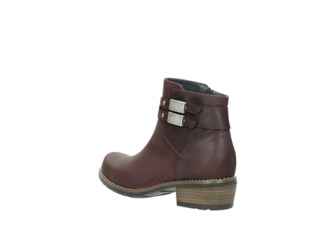 wolky ankle boots 00571 nero 50510 burgundy oiled leather_4