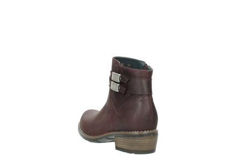 wolky ankle boots 00571 nero 50510 burgundy oiled leather_5
