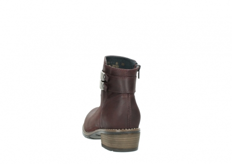 wolky ankle boots 00571 nero 50510 burgundy oiled leather_6
